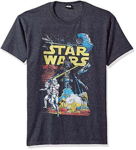 Star Wars Men's Rebel Classic Graphic T-Shirt, Charcoal Heather, Medium