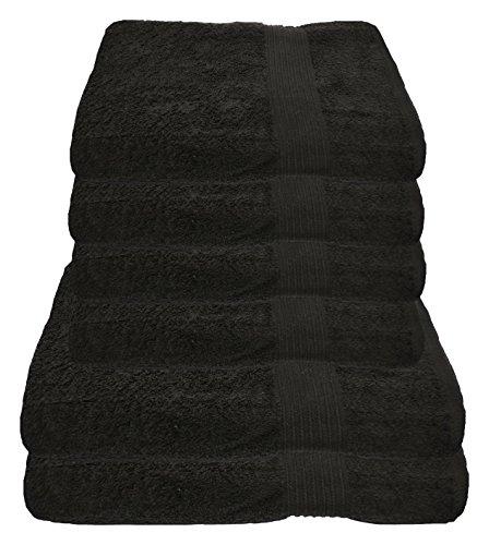 Julie Julsen Handtuch Set 2X Duschtuch 4X Handtuch Schwarz/in 23 Farben erhältlich weich und saugstark