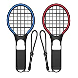 Vikisda マリオテニス エース 用 ハンドル マリオテニス エース Joy-Con ハンドル Switch マリオテニス ジョイコンコントローラー 専用 2個 セット(ブラック)