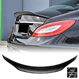 AeroBon Real Carbon Fiber Trunk Spoiler Wing Compatible with 2011-18 Mercedes C218 / W218 CLS-Class Sedan, High Kick Style