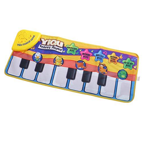 Juego Musical Infantil Eléctrica Animales Teclado de Piano Tapete Bebés