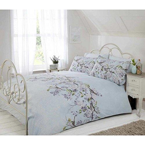 Eloise Duvet Cover Set, Polyester-Cotton, Duck Egg, King