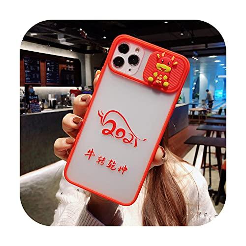 Funda de protección para iPhone 11 12 Pro Max 8 7 Plus Xr Xs Max X SE 2020 12 rojo suave trasera de sandía rojo para iPhone 12