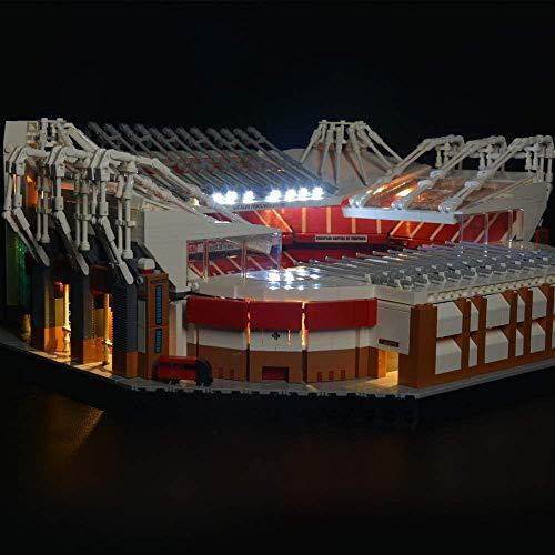 SIROD Kyglaring LED-Beleuchtungsset für Lego 10272 Old Trafford Manchester United mit ferngesteuerten Lichtbausteinen Bausteine für Lego 10272 Bausatz (Modell 10272 Nicht im Lieferumfang enthalten)
