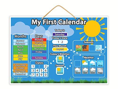 Magnetic My First Calendar: Juguete magnético educativo infantil con botones gruesos para pequeños dedos