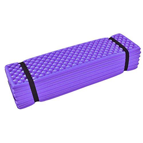 BYARSS Estera de la Espuma, colchón Plegable de la Prenda Impermeable del cojín para Dormir de la Tienda de la Playa de la Estera Que acampa de la Espuma al Aire Libre(Púrpura)