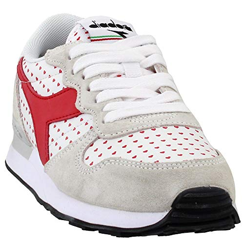 Diadora Womens Camaro Valentine Casual Sneakers, Red;White, 7.5