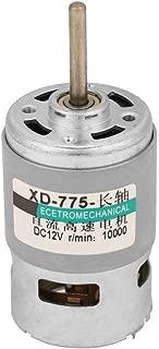 775 DC Motor 12V/ 24V,10000 RPM/20000 RPM High Speed 80W High Power Torque Extension Shaft Motor(12V10000RPM)