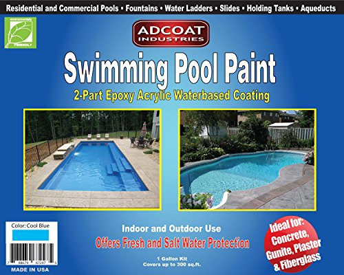 AdCoat Swimming Pool Paint, 2-Part Epoxy Acrylic Waterbased...