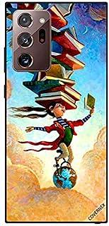 حافظة واقية لسامسونج جالاكسي نوت 20 الترا فتاة على الكرة الأرضية مع كتب