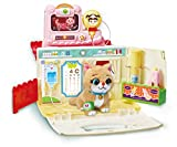 KONGSUNI Series, Animal Hospital Youngtoys Toy Role Play playset Educational Toy pet Dog cat Caring for Kids English Package