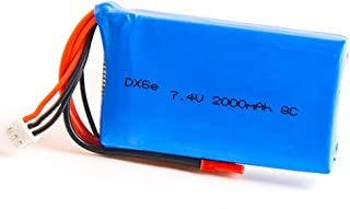 Goolsky- Batería de Lipo 2S 7.4V 2000mAh para Control Remoto Spektrum DX6e DX6 DX8
