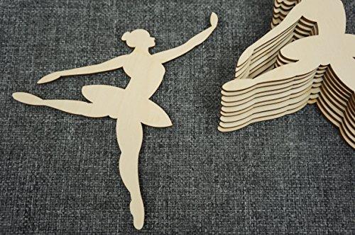 10 Plain Houten Ballerina Poppenkamer Opknoping Vormen Lege Versieringen decoupage (WX90)