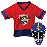 Franklin Sports Florida Panthers Kid's Hockey Costume Set - Youth Jersey & Goalie Mask - Halloween Fan Outfit - NHL Official Licensed Product