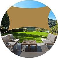 DJZYB 屋外パティオ庭パーティーのために防水サンシェイドセイルキャノピーUVブロックサンシェード布キャノピーオーニングサンプロテクション、160gsm 10色(色:#9、サイズ:3x5m) Z4Y0B8