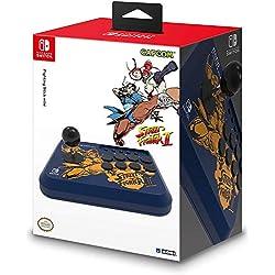 Hori Fighting Stick Mini - Edizione Street Fighter II (CHUN-Li/Cammy) - Ufficiale Nintendo e Capcom - Nintendo Switch