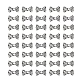 AUEAR, 40 Pack Charming 3D Nail Art Charms Bow Tie Rhinestones Crystal Pendant Decals DIY Decoration for Women Girls Nail Art Beauty Design Jewelry Craft