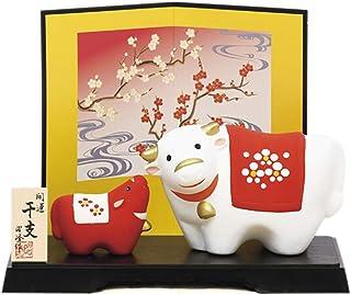 ノーブランド品 Red and White Twin Color, Cute New Year's Good Luck Item. Japanese New Year's Lucky Ornament, 2021's Japanese Zodi...