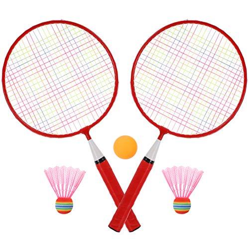BESPORTBLE 1 Juego de Raquetas de Bádminton Niños Niños Volantes Raqueta Niños Pequeños Jugadores Principiantes Profesionales Deporte Interior Al Aire Libre Ga