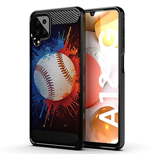 CasesOnDeck Sports Case Compatible with Samsung Galaxy A12 / A12 (6.5') Case- Flex Max Matte TPU Perfect Fitted Case Slim and Elegant (Baseball)