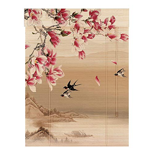 Tenda a Rullo bambù in Stile Giapponese, Ombra Avvolgibile for Coperta for Giardino, Gazebo, Pergola, Veranda, Veranda, Posto Auto Coperto, Design for La Casa (Size : W90cm×H110cm)