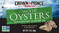 Crown Prince Smoked Oysters Hand Packed in Olive Oil スモークドオイスター カキの缶詰 ハンド·パック·イン オリーブオイル 85g 2個セット[海外直送品]