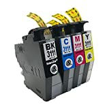 brother LC3111-4PK (BK/C/M/Y) 【4色セット】 Hyper互換インクカートリッジ 【nasia+製】 (最新型ICチップ/残量検知/製品1年保証付き) LC3111-4PK