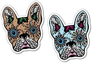 2 x French Bullldog Day Of The Dead Sticker Tattoo Art Sailor