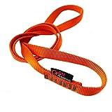 GM CLIMBING Pack of 3 16mm Nylon Sling Runner 120cm / 48inch (Fluorescent Orange)