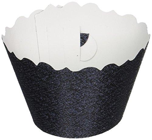 Bella Cupcake Couture 633131980165 Glitter Cupcake Wrapper Schwarz, 12 Stück