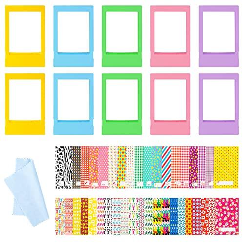 Tinyriz 10Pcs Mini Marcos de Fotos Coloridos, Plásticas Marco de Fotos Verticales, Accesorios para Fujifilm Instax 9, 8+, 7S (Verde Azul Morado Rosa Amarillo)