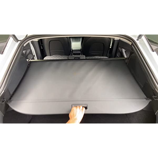basenor tesla model y retractable cargo cover rear trunk shield privacy cover 2021 2020 (no drilling required)