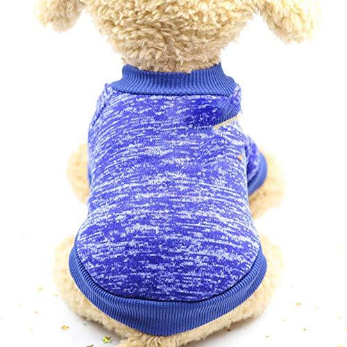 PONNMQ Vêtements Chien Chaud Classique vêtements Chiot Chat vêtements Pull Veste Manteau Hiver Mode Doux pour Les Petits Chiens Chihuahua XS-2XL, 2, XL