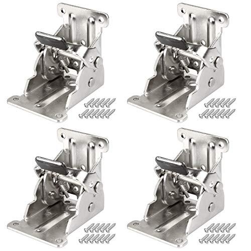 MOUNTAIN_ARK 4 pezzi 90° gambe pieghevoli da tavolo con cerniere 69 x 63 x 54 mm per tavolo pieghevole, portata 80 kg in acciaio laminato a freddo