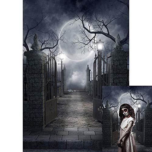 BDDFOTO 1.5 * 2m Halloween Hintergrund Fotografie Hintergrund Moon Muster für Baby, Neugeborene, Kinder, Objekte Fotografie Video Studio