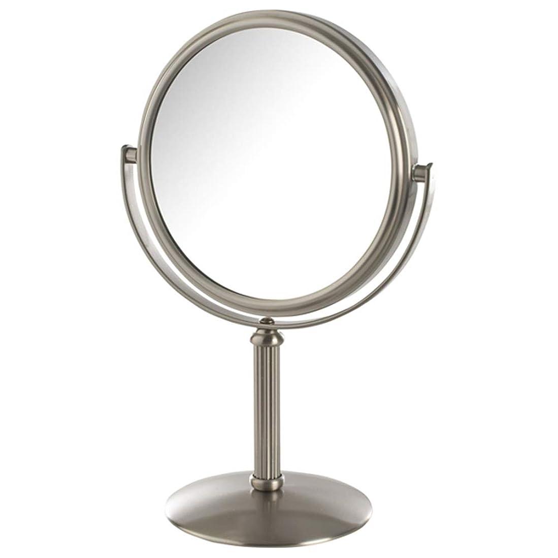 ニュースサイトライン話すJerdon(ジェルドン) / MC105N (ニッケル) 拡大鏡 [鏡面 約14cm / 高さ 約25cm] 【5倍率】 卓上型テーブルミラー