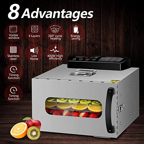 Cheap CHUNNONG Dehydrator Household Food Dryer Vegetable Dryer 110V American Fruit Dryer Stainless S...