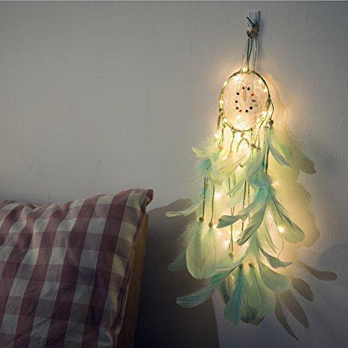 DFVVR Atrapasueños 2 metros 20LED iluminación niña habitación campana dormitorio decoración romántica