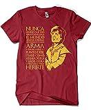 Camisetas La Colmena 1303-Camiseta Tyrion Juego de Tronos,(Granate) (XXL)