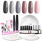 Modelones Gel Nail Polish Kit with UV Light - 6 Colors Gel Matte - Best Reviews Guide