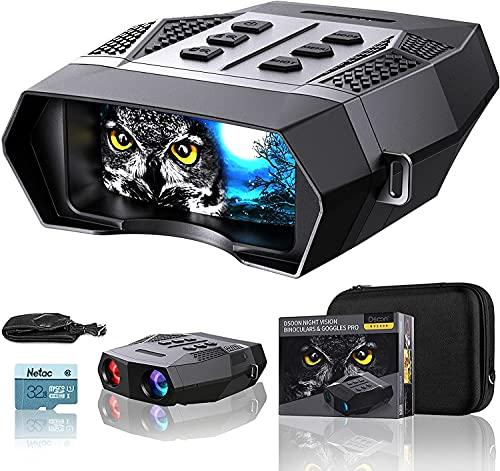 """Dsoon Visione Notturna Binocolo 2K Foto 1080P Video, 2,5""""TFT Visore Notturno Caccia Professionale di Portata 400m, Fotocamera a Infrarossi da 7 Livelli, Zoom Digitale 4X(con Scheda 32G)"""
