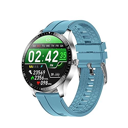 YLB Smart Watch and Sleep Monitoring 1 28 Pulgadas TFT Pantalla táctil Completa Pulsera Larga Batería Vida IP68 Impermeable Modo Multi Deporte Modo Especial Función Azul (Color : H)