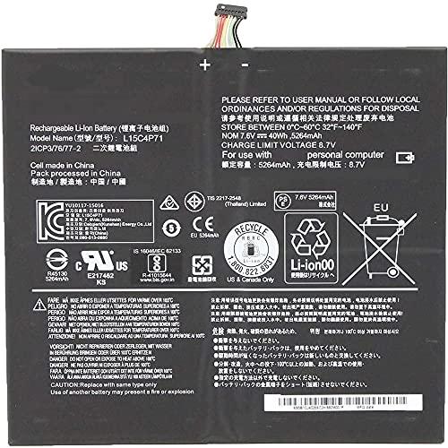 L15C4P71 L15L4P71 7.6V 40W 5264mAh Laptop Batería Repuesto para Lenovo Ideapad Miix 700-12ISK 710-12IKB Series Tablet 5B10J40259 5B10J40264