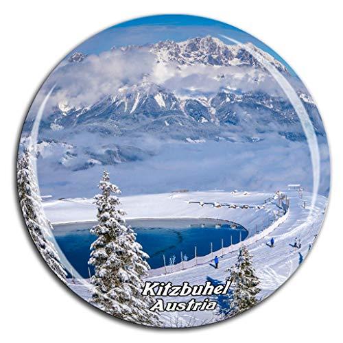 Weekino Kitzbühel Österreich Kühlschrankmagnet 3D Kristallglas Tourist City Travel Souvenir Collection Geschenk Strong Refrigerator Sticker