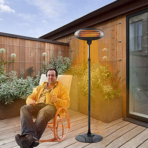 Outdoor Electric Patio Heater, Indoor Infrared Heater, Fast Heating Standing Space Heater for Large Room, Garage, Backyard, Office,B