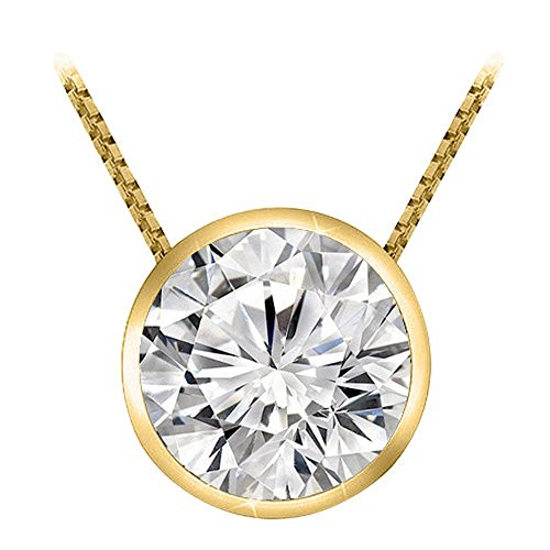18 best diamond solitaire necklace yellow gold for 2021
