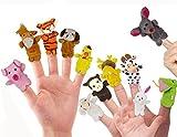 Kfnire Muñecos Marionetas de Dedo de Terciopelo de Estilo Animal Lindo, Juego de 12...