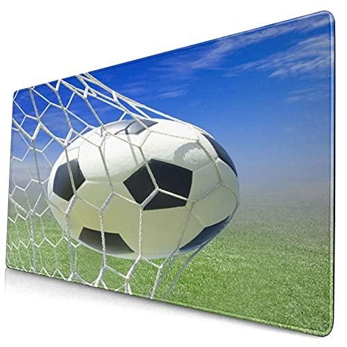 Niedliches Mauspad,Sport-Fußball-Tornetz Fußballspiele Foto-Design,Rechteckiges rutschfestes Gummi-Mauspad für Desktop,Computer-Laptop,Gamer-Schreibtischmatte,15,8 'x 29,5'