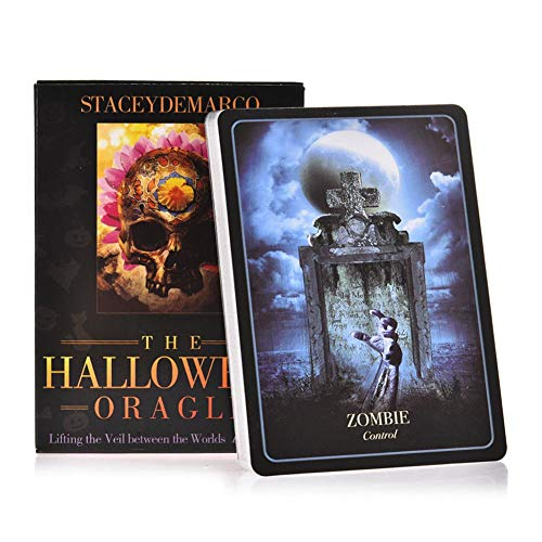 leader 36pcs Halloween Oracle Cards Deutsche Version Plattform u Oracle Tarot-Karten-Partei-Karten Brettspiele Brettspiele