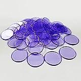 CHZIMADE 100 marcadores de chips de plástico para tarjetas de juego, marcador de fichas de bingo de 19 mm para tarjetas de juego de bingo, color mixto